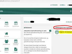 Registreing af betalingskort